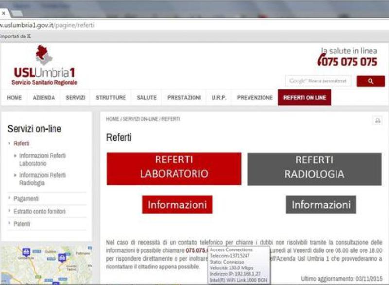 Area Servizi Medici - ECWMED - USL UMBRIA 1