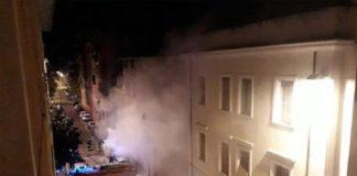 A fuoco un Suv nel centro di Terni