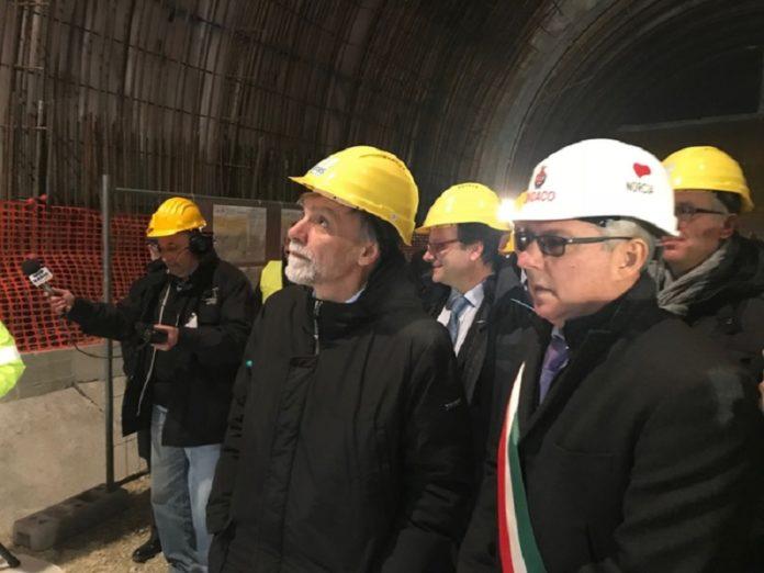 La galleria San Benedetto di Norcia aprirà a fine febbraio