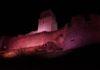 La Rocca di Assisi si colora di rosa per il Giro d'Italia